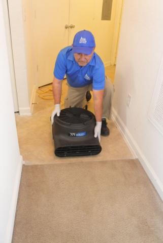 Blowers for drying wet carpet in Jacksonville Fl